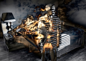 Man on Fire - Photo Composite
