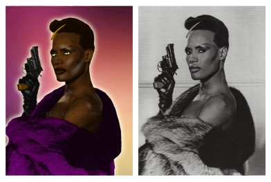 Grace Jones - Photo Colorization